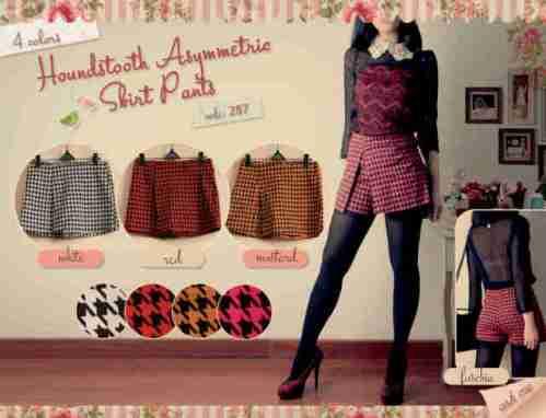 287 Skirt Pants HT idr53, cotton strech fit to big L - seri4pcs 187rb