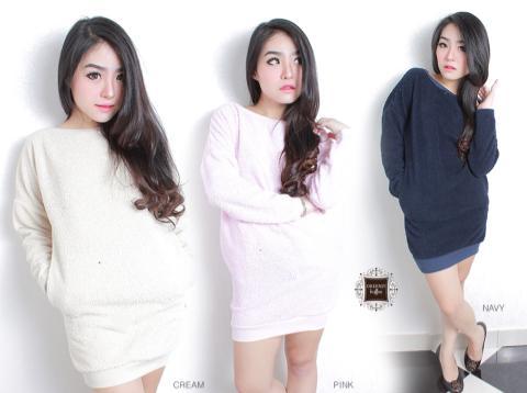 Fur Sweater - ecer@61rb - seri3w 155rb - Fur Fabric(Tebal + Hangat)