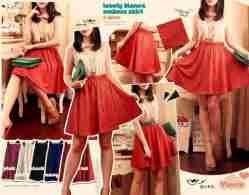 Lovely Bianca Emboss Skirt - ecer@70rb - seri6w 390rb -emboss+full karet - fit to L
