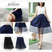Tucks Panel Skirt - ecer@70 - seri4pcs 260rb - woolcrepe+organdy - fit to L