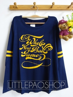 Baseball Game Longsleeve Tee (navy) - ecer@60rb - seri3w 165rb - spandex - fit to L