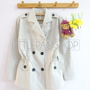 Classic Parka (white) - ecer@95rb - seri4w 360rb - katun twill tebal stretch - fit to L