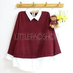 Minimalist Collar Shirt (red) - ecer@67rb - seri3w 186rb - twistcone tebal - fit to L