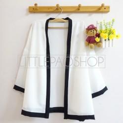 Pentatonic Kimono Outer (white) - ecer@63rb - seri5w 290rb - twiscone - fit to L